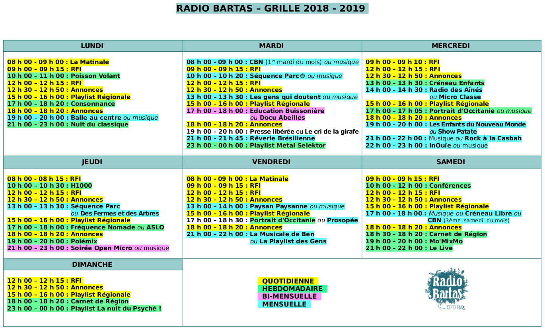 Grille des programmes radio bartas - Programme canal plus grille ...